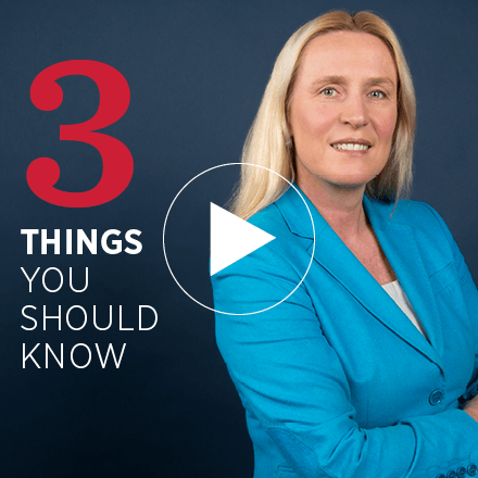 Iris Bohnet headshot that reads '3 things you should know'