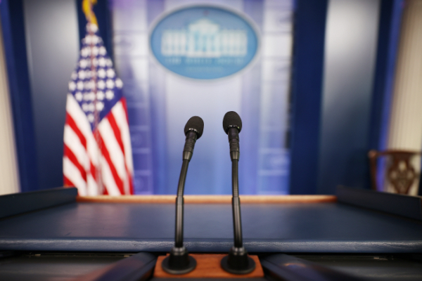 The James Brady Press Briefing Room at the White House.