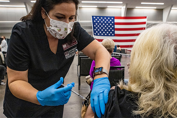 The number of COVID-19 vaccination sites has been increasing across the U.S.