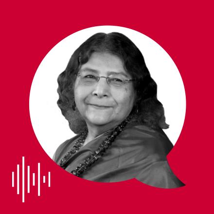Sheila Jasanoff with PolicyCast logo.